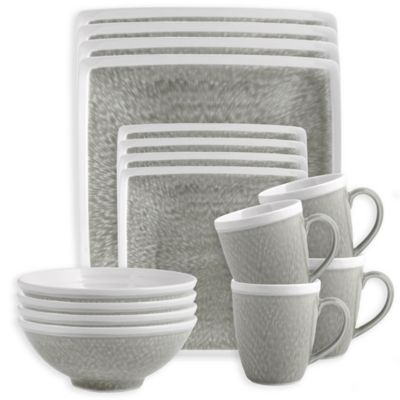 Sango Vega 16-Piece Dinnerware Set in Grey