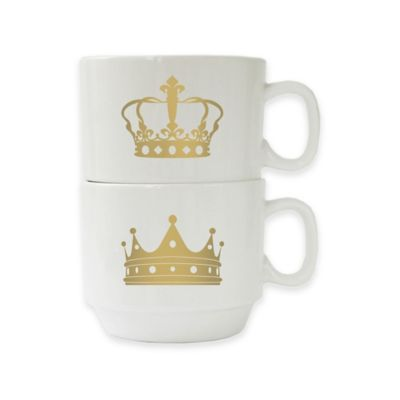 American Atelier Crowns Stackable Mugs (Set of 2)