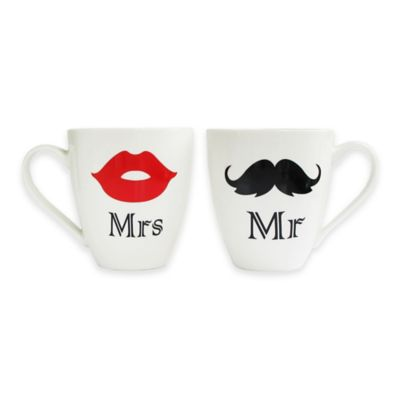 "American Atelier ""Mr."" and ""Mrs."" Mugs (Set of 2)"