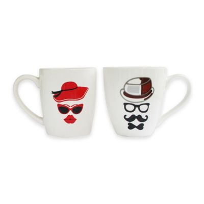 American Atelier Hats Mugs (Set of 2)