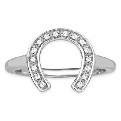 ASPCA® Tender Voices .09 cttw Diamond Size 6 Horseshoe Ring