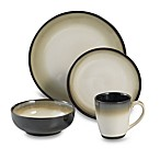 Nova Black 16-Piece Dinnerware Set by Sango