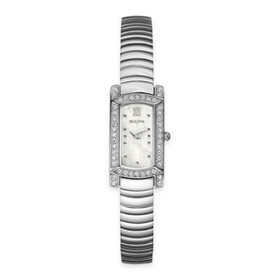 Bulova Ladies' Mother of Pearl Dial Dress Watch in Stainless Steel