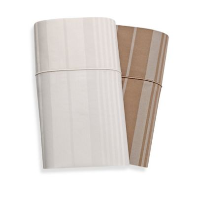 600-Thread-Count Dobby Stripe Queen Sheet Set in Taupe