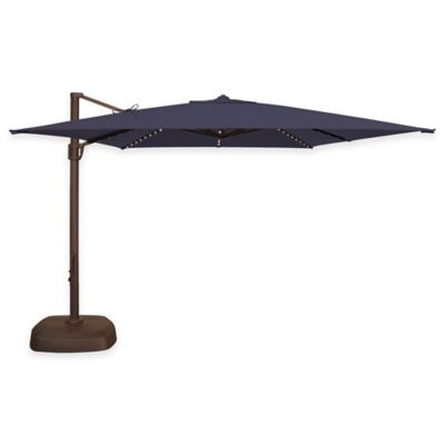 SimplyShade Bali Pro 10-Foot Square Cantilever Umbrella in Sunbrella® Red