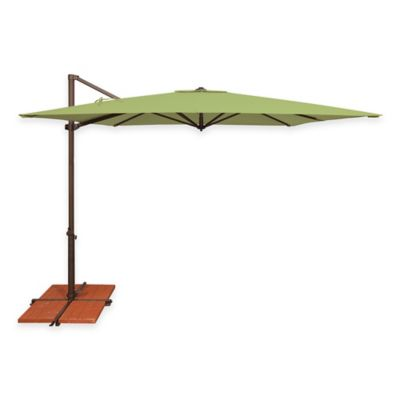 SimplyShade Skye 8-Foot 7-Inch Square Cantilever Umbrella in Sunbrella® Antique Beige