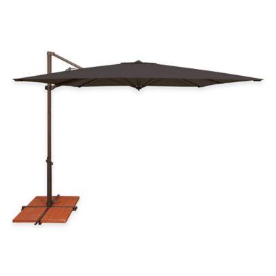 SimplyShade Skye 8-Foot 7-Inch Square Cantilever Umbrella in Sunbrella® Black