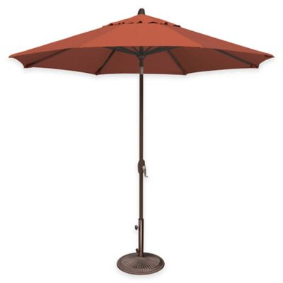 SimplyShade® Lanai 9-Foot Octagon Auto-Tilt Market Umbrella in Sunbrella® Antique Beige