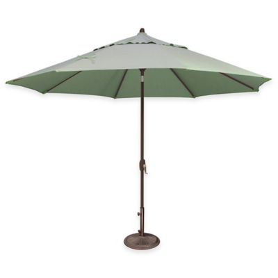 SimplyShade Lanai 11-Foot Octagon Auto-Tilt Market Umbrella in Sunbrella® Forest Green
