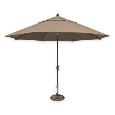 SimplyShade Lanai Pro 11-Foot Octagon Auto-Tilt Market Umbrella in Sunbrella® in Jockey Red