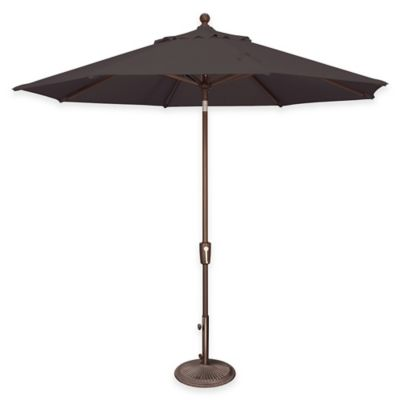 SimplyShade Catalina 9-Foot Push Button Tilt Octagon Umbrella in Sunbrella® Ginkgo