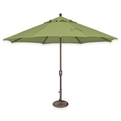 SimplyShade® Catalina 11-Foot Octagon Aluminum Push Button Tilt Market Umbrella in Ginkgo