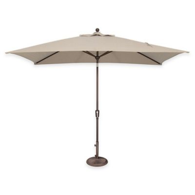 SimplyShade Catalina 10-Foot Push Button Tilt Market Umbrella in Sunbrella® Jockey Red