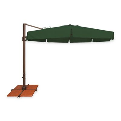 SimplyShade® Bali 11-Foot Octagon Cantilever Aluminum Solefin Umbrella in Forest Green