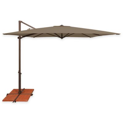 SimplyShade® Skye 8-Foot 6-Inch Square Cantilever Aluminum Umbrella in Sky Blue