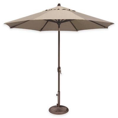 SimplyShade® Lanai 9-Foot Octagon Auto-Tilt Aluminum Market Umbrella in Forest Green