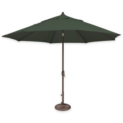 SimplyShade® Lanai 11-Foot Octagon Aluminum Solefin Market Umbrella in Forest Green