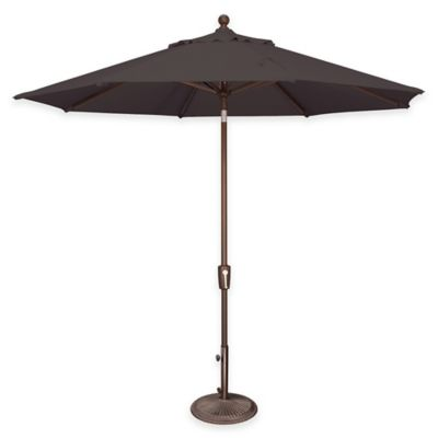 SimplyShade Catalina 9-Foot Push Button Tilt Octagon Solefin Umbrella in Forest Green