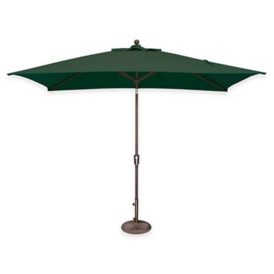SimplyShade Catalina 6.5-Foot x 10-Foot Tilt Rectangle Solefin® Umbrella in Forest Green