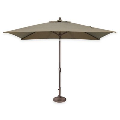 SimplyShade Catalina 6.5-Foot x 10-Foot Tilt Rectangle Solefin® Umbrella in Forest Green