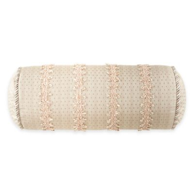 Waterford Linens Castlequin Neckroll Throw Pillow
