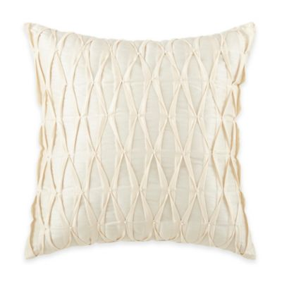 Waterford Linens Castlequin Pleated Square Throw Pillow