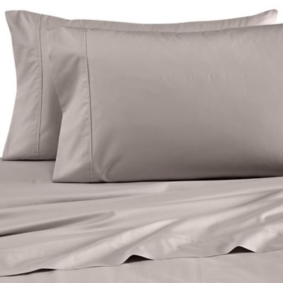 Grey Percale Pillowcase