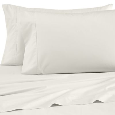Wamsutta® Dream Zone® Percale 500-Thread-Count Standard Pillowcases in Ivory (Set of 2)