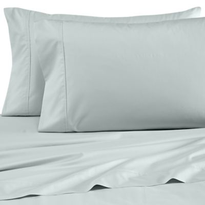 Wamsutta® Dream Zone® Percale 500-Thread-Count Twin Sheet Set in Sea Glass