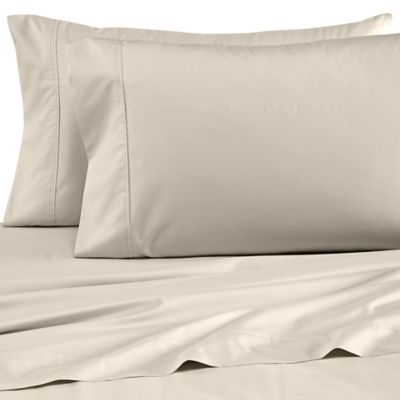 Wamsutta® Dream Zone® Percale 500-Thread-Count Full Sheet Set in Taupe