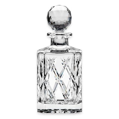 Top Shelf Bevel Hand Cut Crystal Decanter