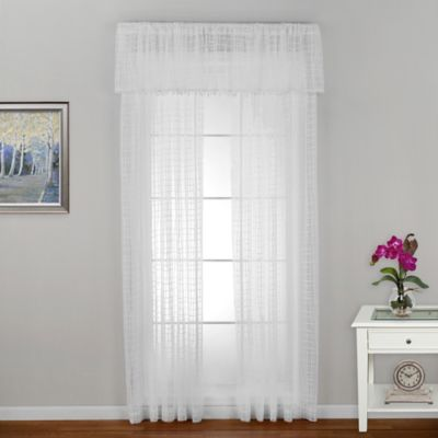 Seacoast 63-Inch Rod Pocket Window Curtain Panel in White