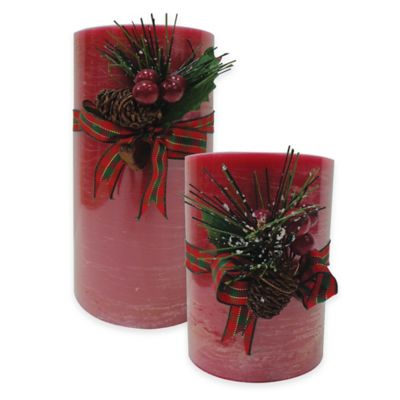 Rustic Cinnamon 3-Inch x 4-Inch Holiday Pillar Candle