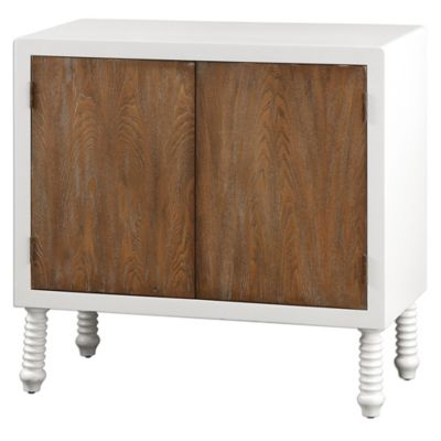 Uttermost Maksim Accent Door Chest in White