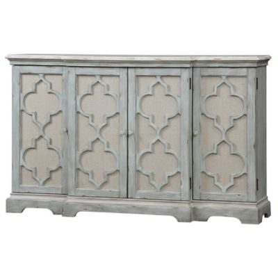 Uttermost Sophie 4-Door Cabinet in Grey