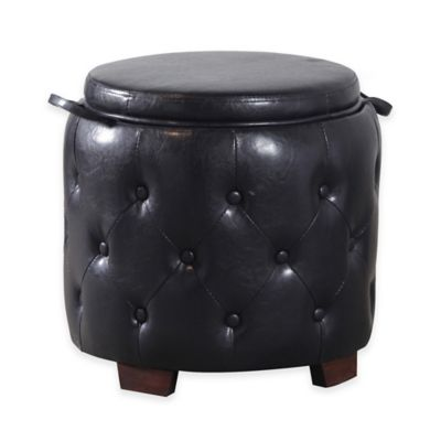 Bombay Windsor Ottoman in Brown
