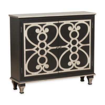 Bombay Laslo 2-Door Hall Console in Black