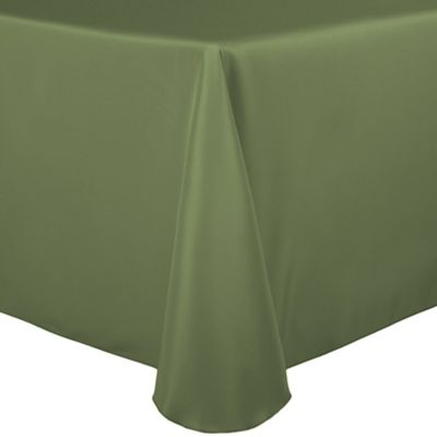 Basic Polyester 90-Inch x 132-Inch Oblong Tablecloth in Army Green