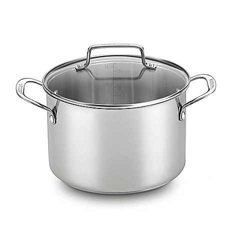 Cuisinart® Chef's Classic™ Stainless Steel 5.75 qt. Covered Soup Pot - BedBathandBeyond.com