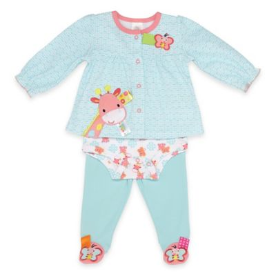 Taggies™ Size 3M Giraffe and Butterfly Take Me Home Set in Blue/Pink