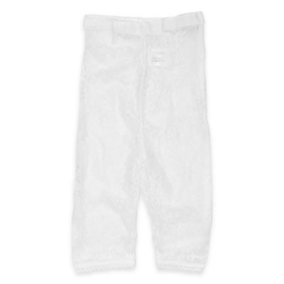Planet Kids Size 0-6M Lace Leggings in White
