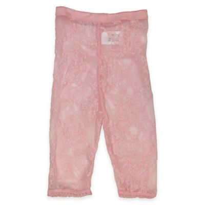 Planet Kids Size 0-6M Lace Leggings in Pink