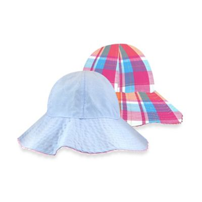 Toby™ Toddler Chambray/Plaid Reversible Hat