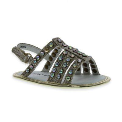 Stuart Weitzman Baby Kempa Size 3-6M Sling Back Open-Toe Sandal in Gold