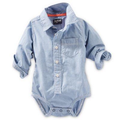 Grey Button-Front Bodysuit