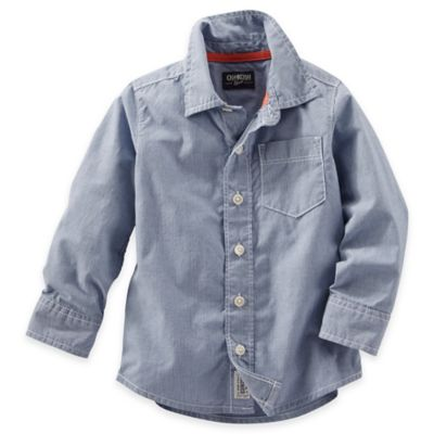 Grey Button-Front Shirt