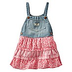 OshKosh B'Gosh Size 18M Tiered Print Skortall in Denim/Red