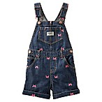 OshKosh B'Gosh Size 6M Embroidered Butterfly Shortall in Denim/Pink