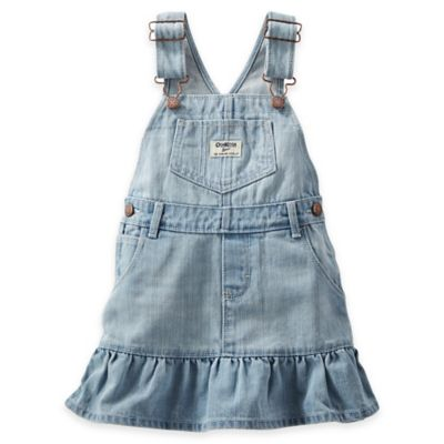 Oshkosh B'gosh® Size 3M Ruffle-Hem Light Denim Skortall