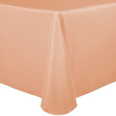 Peach Square Tablecloth